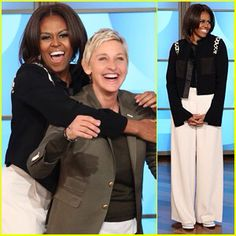 "FIRST LADY MICHELLE OBAMA WILL BE ON THE ELLEN SHOW MONDAY MARCH 16, 2015 (check your local listing)... Watch Michelle Obama bring the funk to ""The Ellen DeGeneres Show""  Michelle Obama shows off her funky dance moves in an upcoming segment set to air Monday on ""The Ellen DeGeneres Show.""  On Friday, producers released a fun preview clip, which finds the first lady taking on a not-so-simple routine with DeGeneres and dancers from the ""So You Think You Can Dance"" All Stars. They all get down to ""Uptown Funk"" by Mark Ronson and Bruno Mars -- and it's definitely worth a viewing.  At one point near the start of the dance Mrs. Obama stops everything when her mic's battery pack falls off.  ""There is some hip thrusting,"" she says. ""There's a lot of it.""  She wasn't lying.    The first lady didn't appear on DeGeneres' show just to dance. She paid a visit to the set to talk about the fifth anniversary of her anti-childhood obesity initiative.  Mrs. Obama previously displayed her push-up skills on the show."