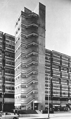 Eros House, Catford, London, 1960-63 (Owen Luder Partnership). Mum worked here for a while, in Lewisham borough architects dept.