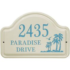 Palm Ceramic Arch Personalized Standard Wall Plaque