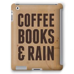 Coffee Books & Rain #ipad #coffee #books #rain #read #lazy #relax #chill