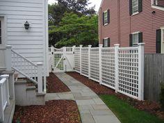 nice walkway and fence