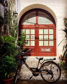 First day in Bangkok! Beautiful city! . . . #bangkok #city #bicycle #door