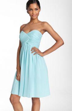 aqua sweetheart dress