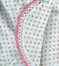 Flannel Receiving Blanket with Crochet Edging