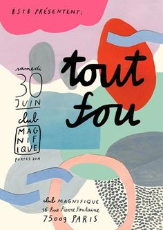 I love the shapes and thin and thick typography as well as it being in French // COLOR / Abstract Collage - Bodil Jane Graphic Design Posters, Graphic Design Typography, Graphic Design Illustration, Graphic Design Inspiration, Branding Design, Poster Designs, Graphisches Design, Buch Design, Print Design