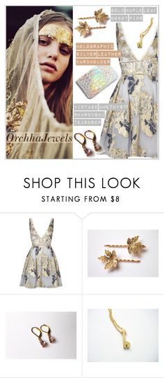 """Orchhajewels"" by teoecar ❤ liked on Polyvore featuring Notte by Marchesa, vintage, cassiopeiafall and orchhajewels"