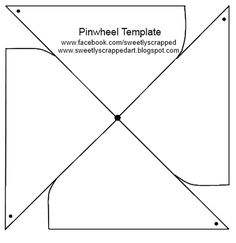 Pinwheel template--possibly make an all about me pinwheel?