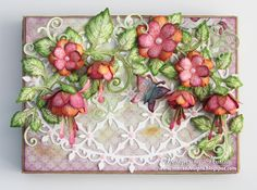 Designs by Marisa: Heartfelt Creations - Fuchsia Flowers Gift Box