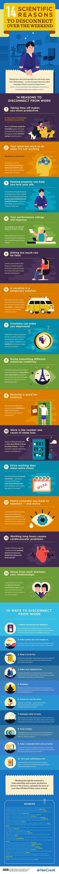 14 Scientific Reasons to Disconnect Over the Weekend (Infographic)