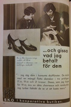 An ad for buying your shoes from the co-op store. 1931