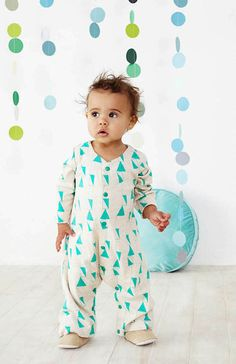 Baobab Abstract Babygro Price: $ 39.95  We are in LOVE with this gorgeous unisex abstract babygro by Baobab!  Your little one is guaranteed to stand out from their play group in this divine onesie!  Features loose comfy fit and made from soft 100% organic cotton with green studs down the front and inside legs.  Little Boo-Teek - Baby Clothing Online | Baby Shop Online | Baobab