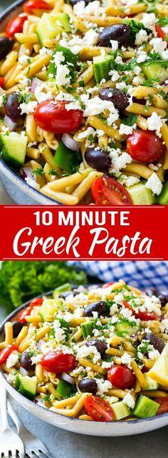 Greek Pasta Recipe | Easy Pasta Recipe | One Pot Pasta Recipe