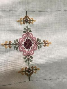 This Pin was discovered by neş 123 Cross Stitch, Cross Stitch Pillow, Cross Stitch Letters, Beaded Cross Stitch, Cross Stitch Borders, Simple Cross Stitch, Cross Stitch Designs, Cross Stitch Embroidery, Ribbon Embroidery