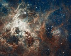 Star Formation in the Tarantula Nebula - more at http://apod.nasa.gov/apod/ap120516.html  (credit: NASA, ESA, ESO, D. Lennon (ESA/STScI) et al., and the Hubble Heritage Team (STScI/AURA))
