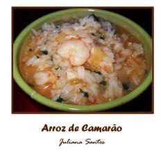 Receitas - Arroz de camarão - Petiscos.com