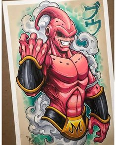 Anime Dibujos A Lapiz Dragon Ball Dragon Ball Gt, Dragon Art, Majin Boo, Z Tattoo, Ball Drawing, Fan Art, Anime Art, Cartoons, Drawings