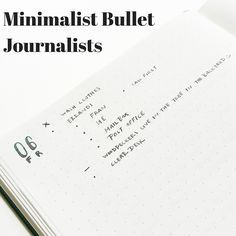 Minimalist Bullet Journalists