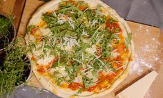 Pizza margherita e rucola!