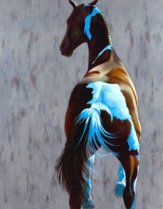 Painting by Patricia Powers.looks sort of like my horse :P All The Pretty Horses, Beautiful Horses, Animals Beautiful, Cowboy Art, Horse Drawings, Equine Art, Horse Love, Wildlife Art, Western Art
