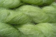 Mohair Yarn in Lime Green by eweandmeyarns on Etsy