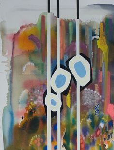 "Saatchi Online Artist Virginie Gallois; Mixed Media, ""Au fond du parc #1"" #art"