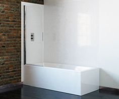 6 Series 1 Panel Single Bath Shower Screen 700mm | Bath Shower Screens | Bathrooms.com
