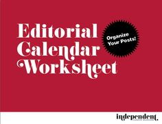 Plan those posts! Download our Editorial Calendar! bit.ly/H785rT
