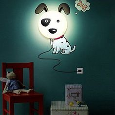 coffled Dog DIY Bedroom Decor Wallpaper Wall Sticker Night Light Lamp For Baby Nusery ** Check this awesome product by going to the link at the image.