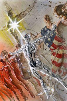 Alex Ross-Earth X sketchbook cover 2008 Comic Art