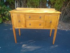 Vintage, Chic, Antique, Small Buffet, side board, ready to be painted your choice of color by Michelle's Home Decor.Much more unpainted furniture to view on my website.