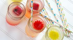 Flavored ice cubes.