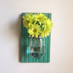 Chevron Wall Decor Mason Jar Farmhouse Decor Fixer Upper Syle Deco