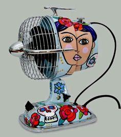 #EletrodomésticoParaoLar ☆ Ventilador com #Arte ☆
