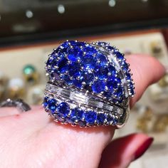 Hard to feel blue with this beauty on my finger...  @davidwebbjewels @betteridge1897