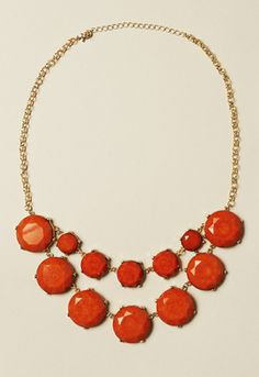 Rust Stone Double Necklace