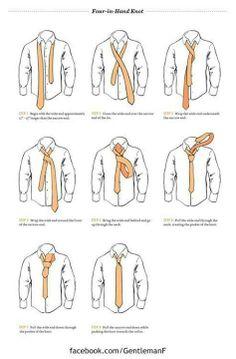 como fazer nó de gravata