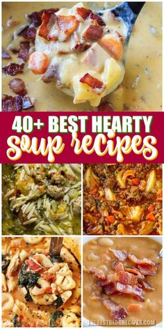 Hearty soups that make the perfect weeknight dinner for your family hearty soup recipes, crockpot Hearty Soup Recipes, Best Soup Recipes, Chowder Recipes, Chicken Soup Recipes, Crockpot Recipes, Dinner Recipes, Cooking Recipes, Favorite Recipes, Crock Pot Soup