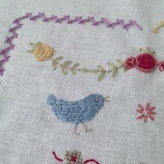 샘플러중 헤링본.백.레이지데이지.스파이더웹로즈.프렌치넛.롱앤숏  #embroidery #embroiderysampler - @embroidery_panda- #webstagram