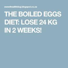 THE BOILED EGGS DIET: LOSE 24 KG IN 2 WEEKS!