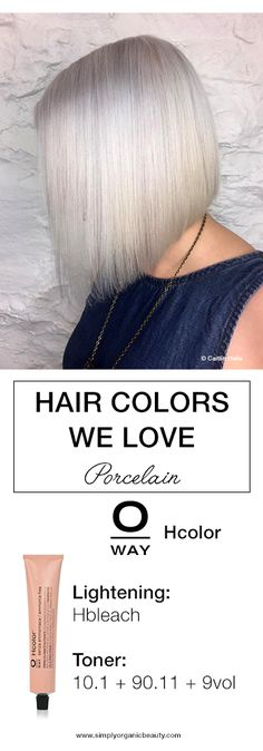 With a new season comes new hair color options. Get inspired by these gorgeous winter hair color formula ideas our created this week! Oway Hair Color, Hair Dye Colors, Organic Hair Color, Organic Beauty, Hair Color Formulas, Simply Organic, Winter Hairstyles, White Hair, Hair Trends