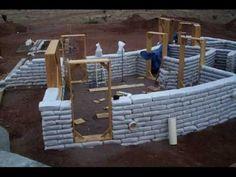 Earthbag House 1800 SF built solo in Taos NM.