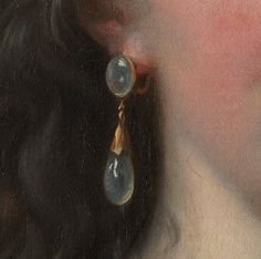 tiny-librarian: Detail of an earring from a 1781 self-portrait by Louise Elisabeth Vigée Le Brun.