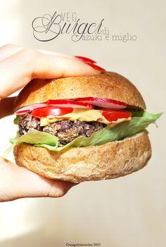 Una gatta in cucina: Veg burger di azuki e miglio | Veg azuki and millet burger