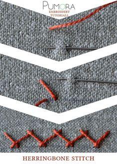 Pumora's lexicon of embroidery stitches: the herringbone stitch