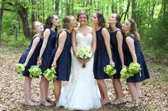 "Giving ""kiss the bride"" a whole new meaning! What a cute picture from Elizabeth Looney Photography! Click through to see more fabulous photography from Elizabeth!"