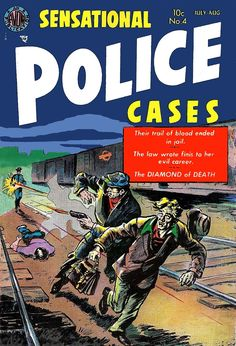 N°4 Crime Comics, Thing 1, Classic Comics, Comic Book Covers, Golden Age, 1930s, Art