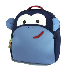 Dabbawalla Bags Monkey Kid's Toddler and Preschool Backpack, Blue/white >>> Discover this special product, click the image : Travel Backpack Preschool Backpack, Toddler Backpack, Small Backpack, Travel Backpack, Cute Backpacks, Animals For Kids, Blue And White, Monkey Business, Coney Island