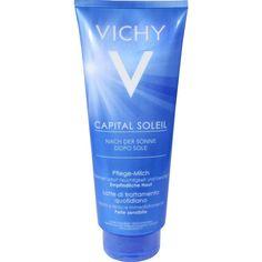 VICHY CAPITAL Soleil Milch nach der Sonne:   Packungsinhalt: 300 ml Milch PZN: 08801768 Hersteller: L Oreal Deutschland GmbH Preis: 13,58…
