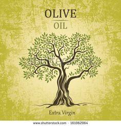Olive tree on vintage paper. Olive oil. Vector  olive tree. For labels, pack. by BrSav, via Shutterstock