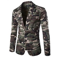 Men's+Casual+Camo+Long+Sleeve+Regular+Blazer+–+USD+$+22.99